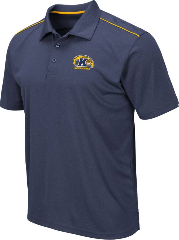 Colosseum Men's Kent State Golden Flashes Navy Blue Eagle Polo product image