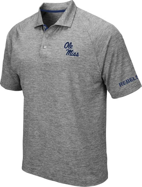 Colosseum Men's Ole Miss Rebels Grey Chip Shot Polo product image