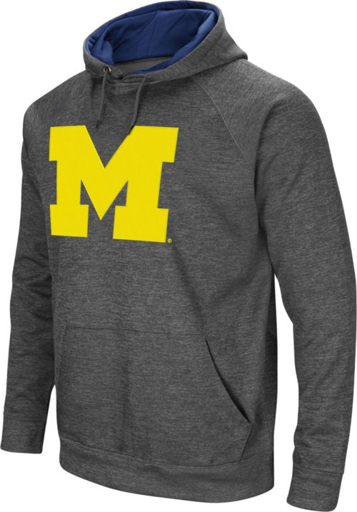 a7da07e960a Colosseum Men s Michigan Wolverines Grey Fleece Pullover Hoodie ...