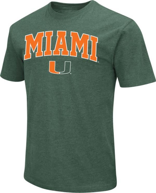 Colosseum Men's Miami Hurricanes Green Dual Blend T-Shirt product image