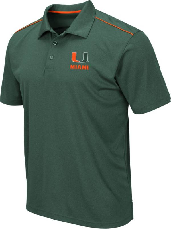 Colosseum Men's Miami Hurricanes Green Eagle Polo product image