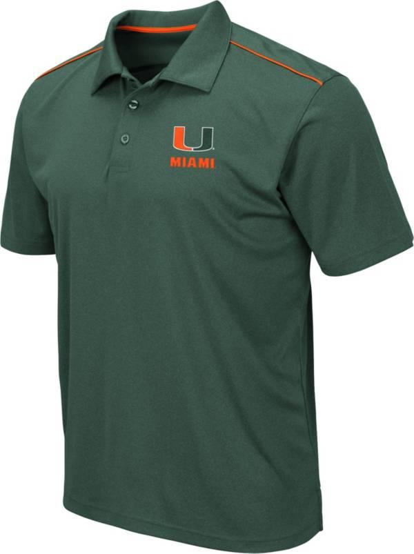 Colosseum Men's Miami Hurricanes Green Eagle Polo product image