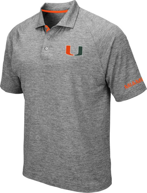 Colosseum Men's Miami Hurricanes Grey Chip Shot Polo product image