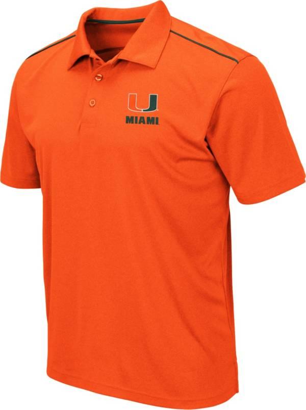 Colosseum Men's Miami Hurricanes Orange Eagle Polo product image