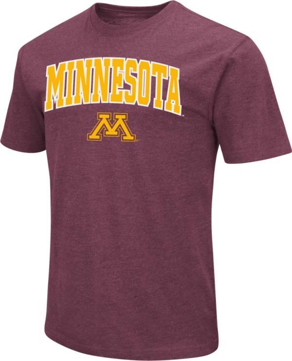 Colosseum Men's Minnesota Golden Gophers Maroon Dual Blend T-Shirt product image