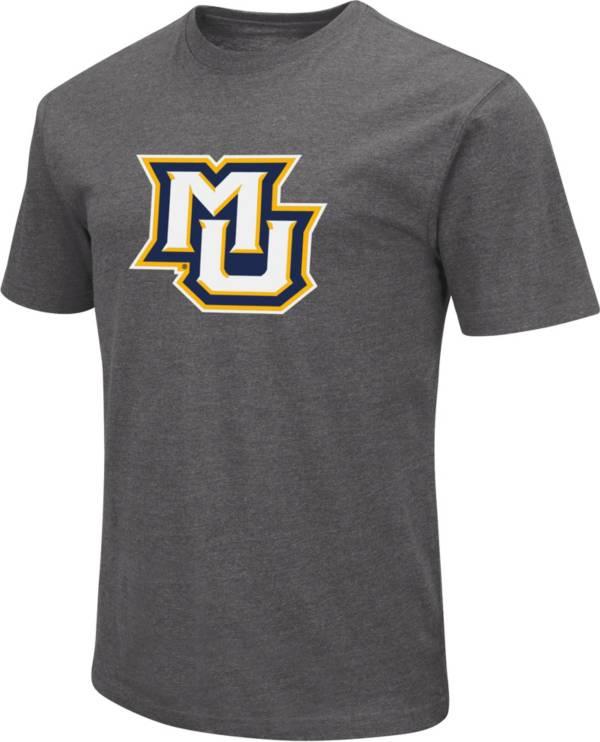 Colosseum Men's Marquette Golden Eagles Grey Dual Blend T-Shirt product image