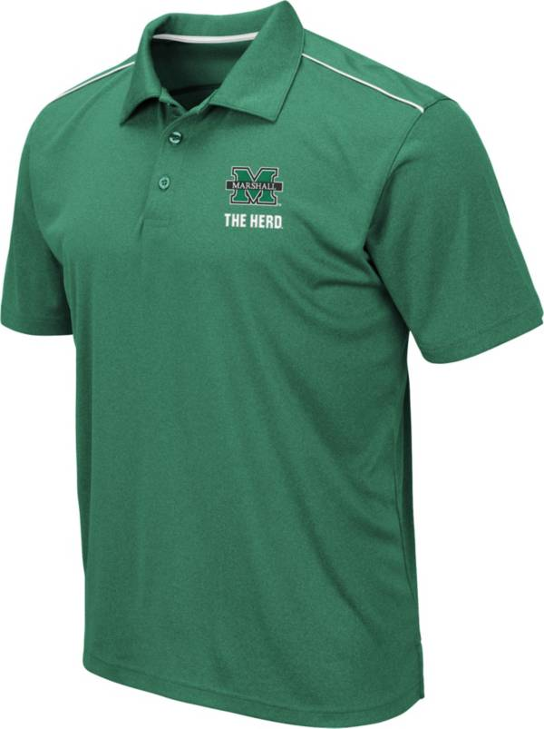 Colosseum Men's Marshall Thundering Herd Green Eagle Polo product image