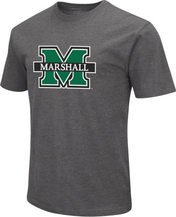 Colosseum Men's Marshall Thundering Herd Grey Dual Blend T-Shirt product image