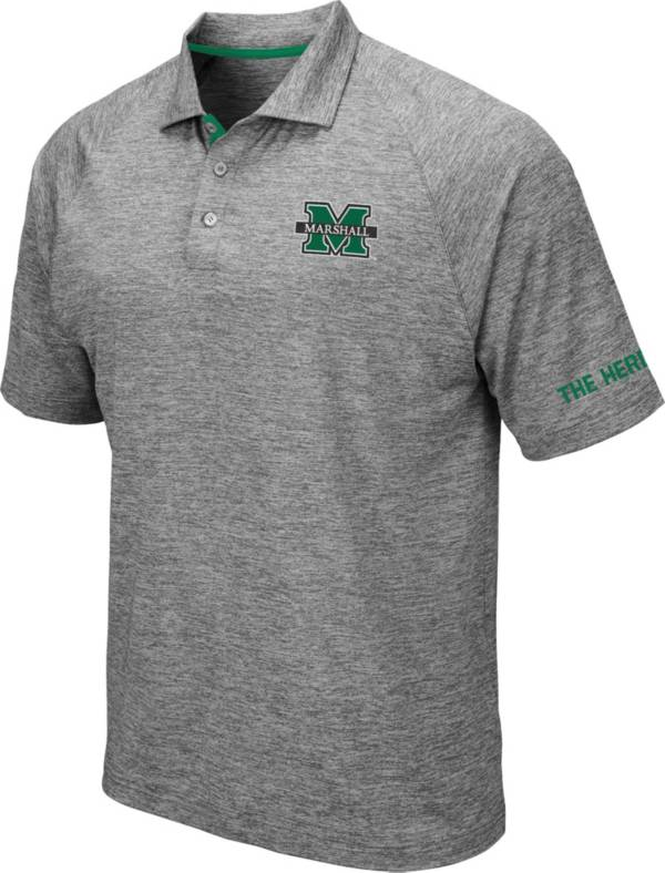 Colosseum Men's Marshall Thundering Herd Grey Chip Shot Polo product image