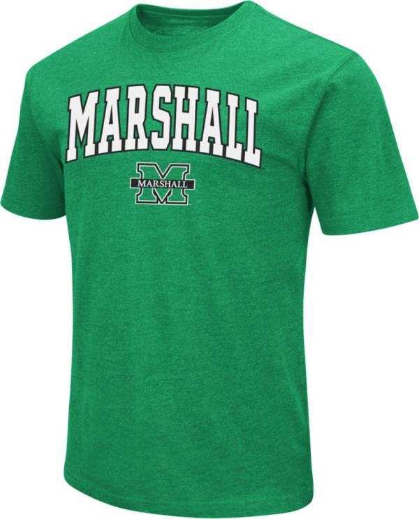 Colosseum Men's Marshall Thundering Herd Green Dual Blend T-Shirt product image