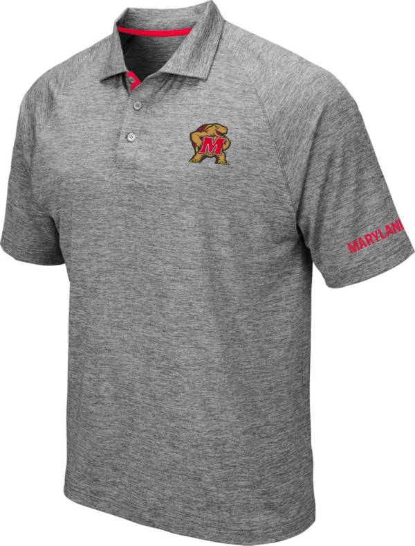 Colosseum Men's Maryland Terrapins Grey Chip Shot Polo product image
