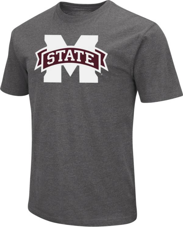 Colosseum Men's Mississippi State Bulldogs Grey Dual Blend T-Shirt product image
