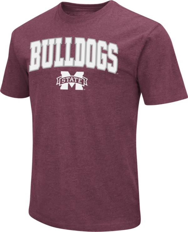 Colosseum Men's Mississippi State Bulldogs Maroon Dual Blend T-Shirt product image