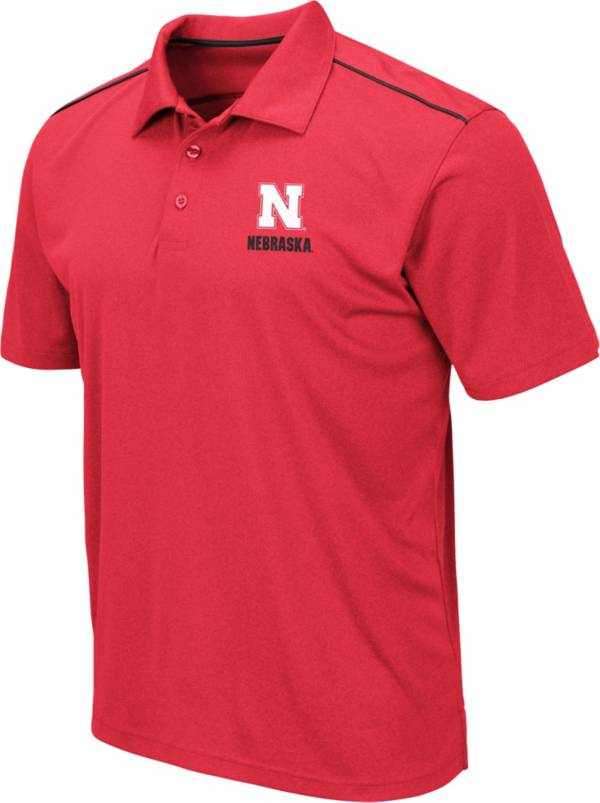 Colosseum Men's Nebraska Cornhuskers Scarlet Eagle Polo product image