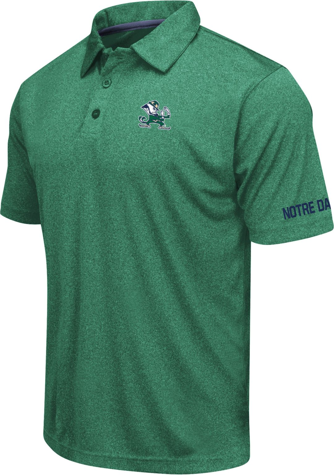 a38385ff Colosseum Men's Notre Dame Fighting Irish Green Axis Polo. noImageFound. 1