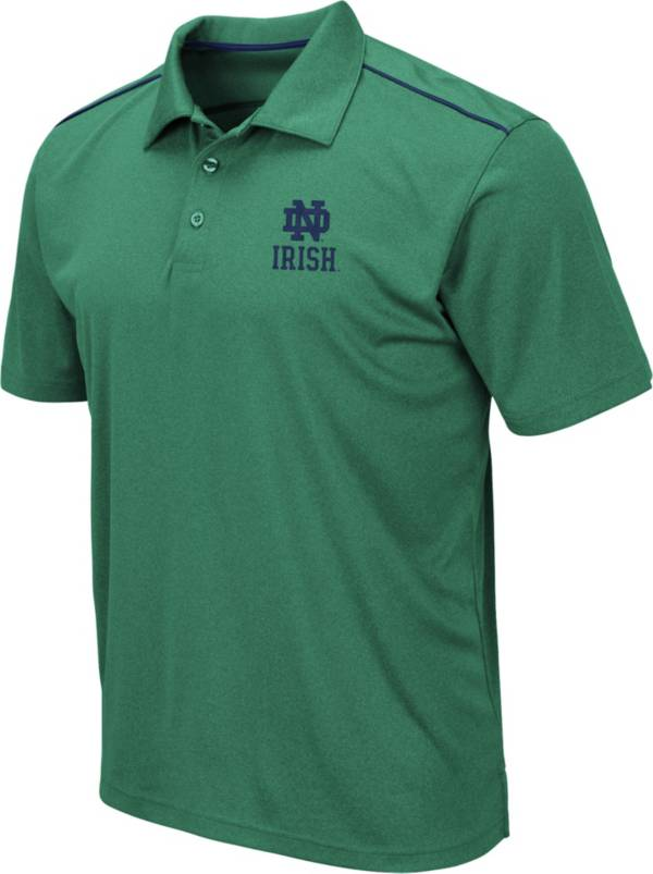 Colosseum Men's Notre Dame Fighting Irish Green Eagle Polo product image