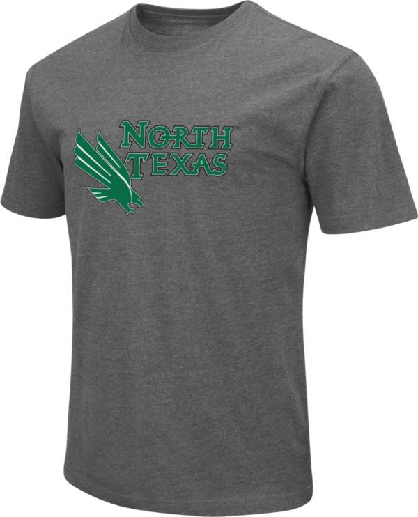 Colosseum Men's North Texas Mean Green Grey Dual Blend T-Shirt product image