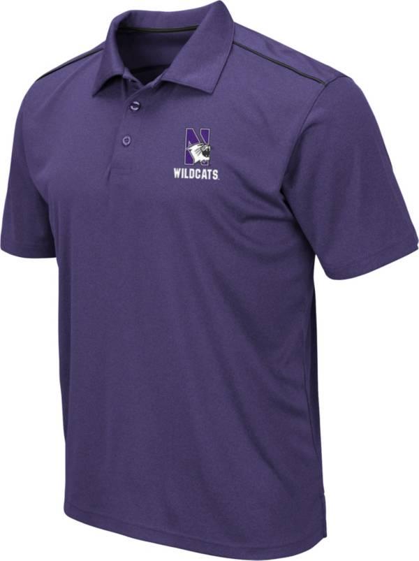 Colosseum Men's Northwestern Wildcats Purple Eagle Polo product image