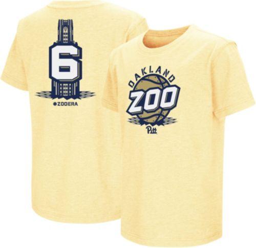 becdae20317 Colosseum Men s Pitt Panthers Gold  Oakland Zoo  Basketball T-Shirt ...