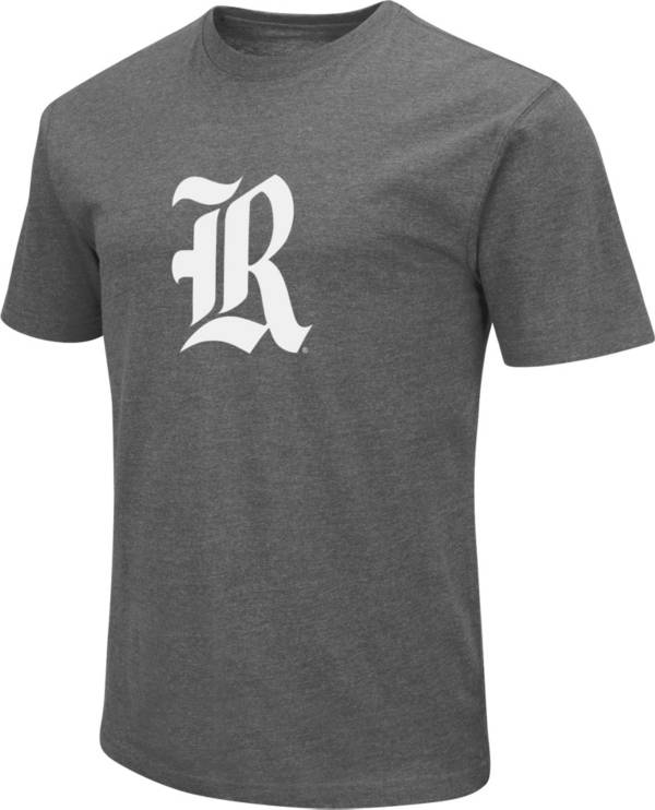 Colosseum Men's Rice Owls Grey Dual Blend T-Shirt product image