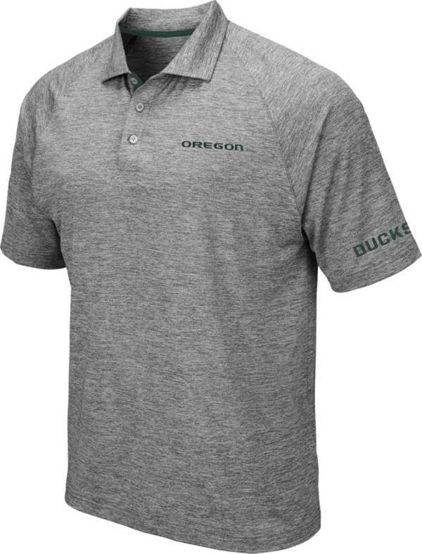 Colosseum Men's Oregon Ducks Grey Chip Shot Polo product image