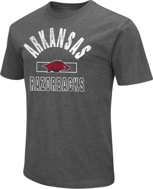 Colosseum Men's Arkansas Razorbacks Grey Dual Blend T-Shirt product image
