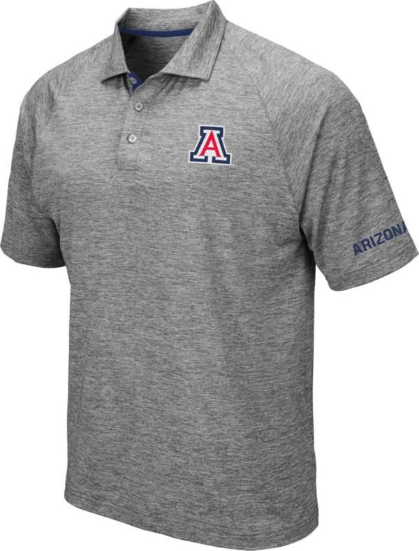 Colosseum Men's Arizona Wildcats Grey Chip Shot Polo product image