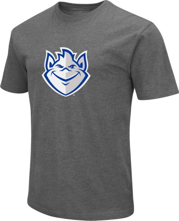 Colosseum Men's Saint Louis Billikens Grey Dual Blend T-Shirt product image
