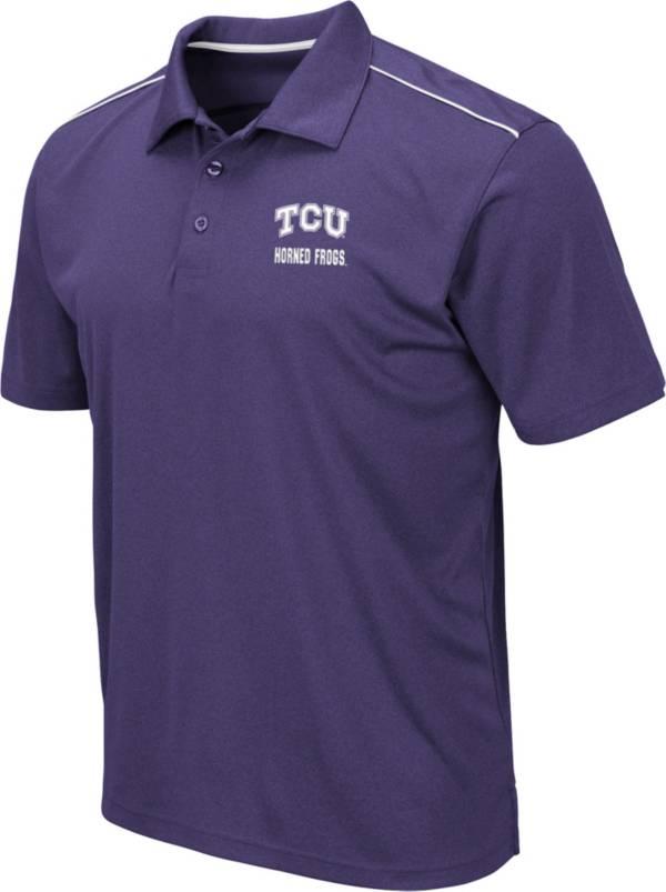 Colosseum Men's TCU Horned Frogs Purple Eagle Polo product image