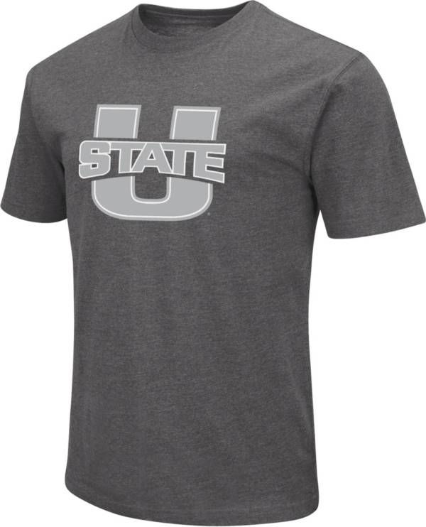 Colosseum Men's Utah State Aggies Grey Dual Blend T-Shirt product image