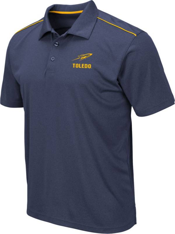 Colosseum Men's Toledo Rockets Midnight Blue Eagle Polo product image