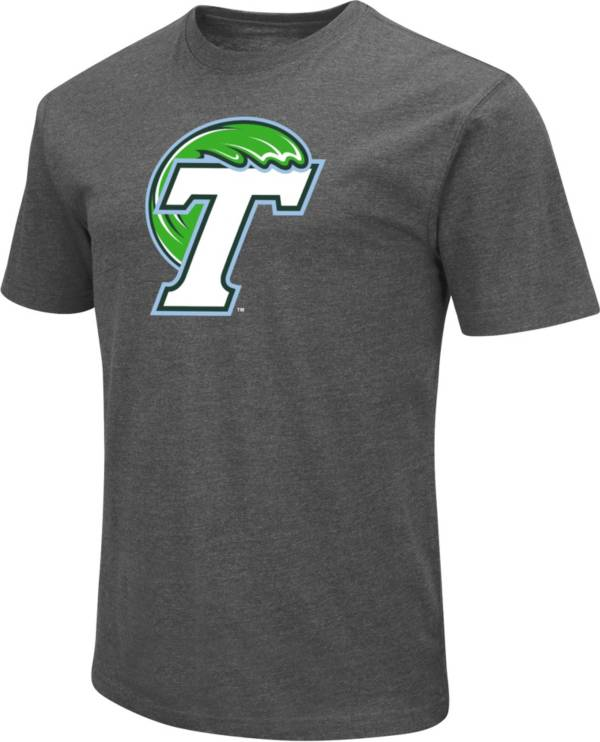 Colosseum Men's Tulane Green Wave Grey Dual Blend T-Shirt product image