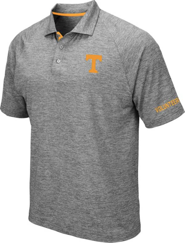Colosseum Men's Tennessee Volunteers Grey Chip Shot Polo product image