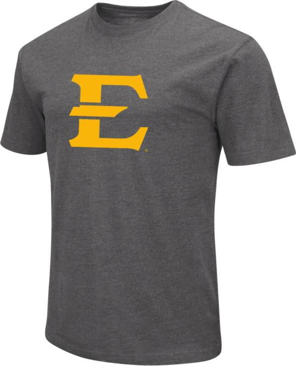 Colosseum Men's East Tennessee State Buccaneers Grey Dual Blend T-Shirt product image