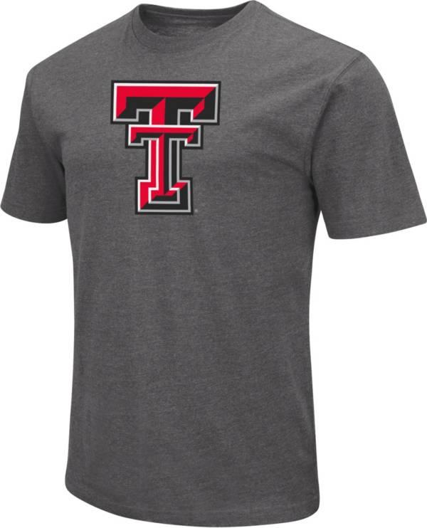 Colosseum Men's Texas Tech Red Raiders Grey Dual Blend T-Shirt product image