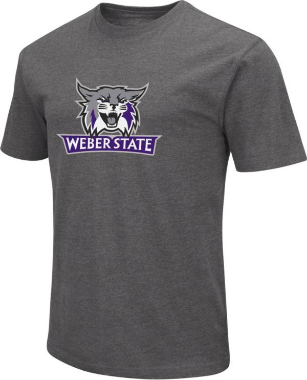 Colosseum Men's Weber State Wildcats Grey Dual Blend T-Shirt product image