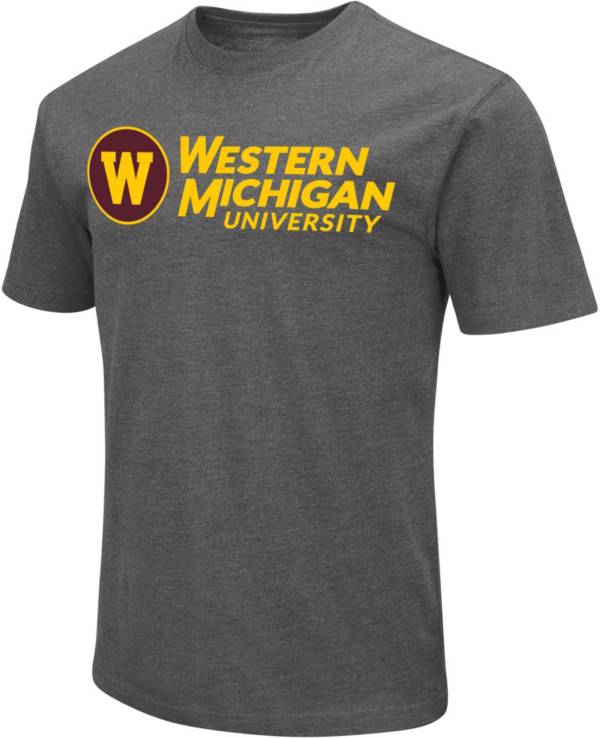 Colosseum Men's Western Michigan Broncos Grey Dual Blend T-Shirt product image