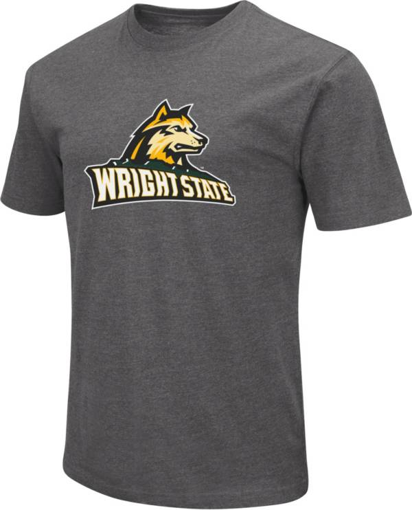 Colosseum Men's Wright State Raiders Grey Dual Blend T-Shirt product image