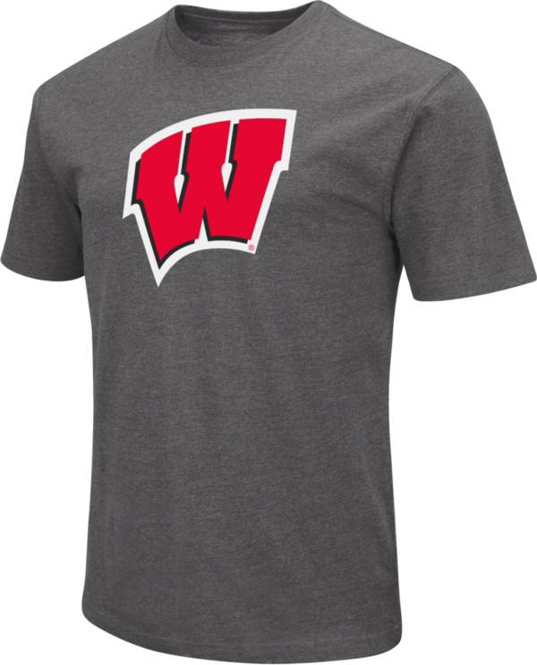 Colosseum Men's Wisconsin Badgers Grey Dual Blend T-Shirt product image