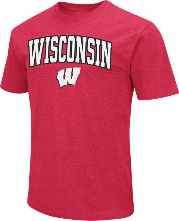 Colosseum Men's Wisconsin Badgers Red Dual Blend T-Shirt product image