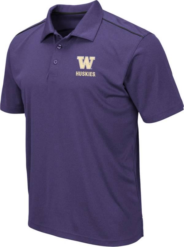 Colosseum Men's Washington Huskies Purple Eagle Polo product image