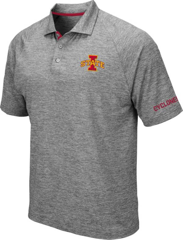 Colosseum Men's Iowa State Cyclones Grey Chip Shot Polo product image