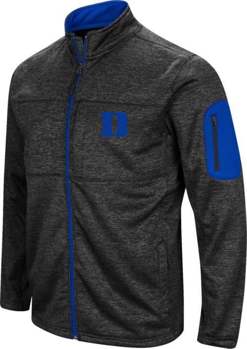 Colosseum Men s Duke Blue Devils Glacier Full-Zip Black Jacket ... f3117bbbd793