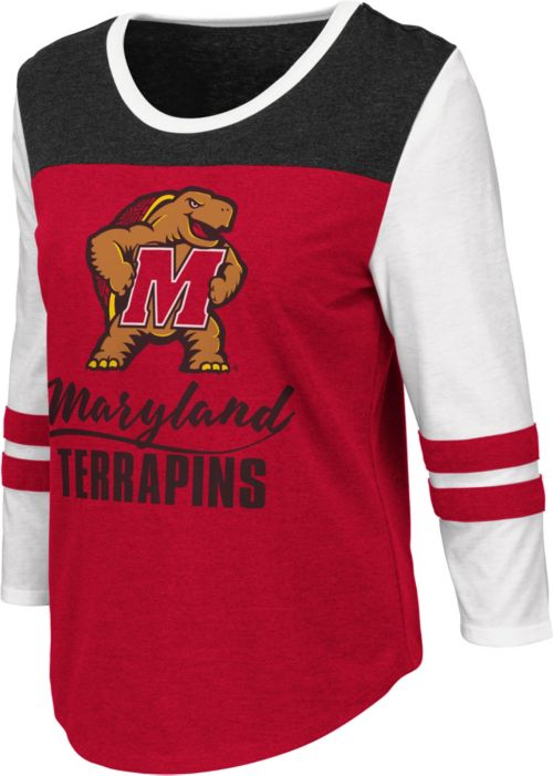 df8c85e8 Colosseum Women's Maryland Terrapins Red ¾ Sleeve Raglan T-Shirt.  noImageFound. 1