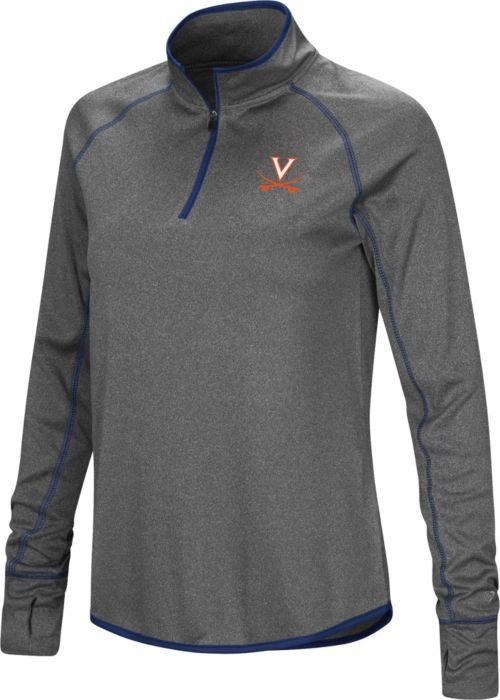 cf12e494 Colosseum Women's Virginia Cavaliers Grey Shark Quarter-Zip Shirt.  noImageFound. 1