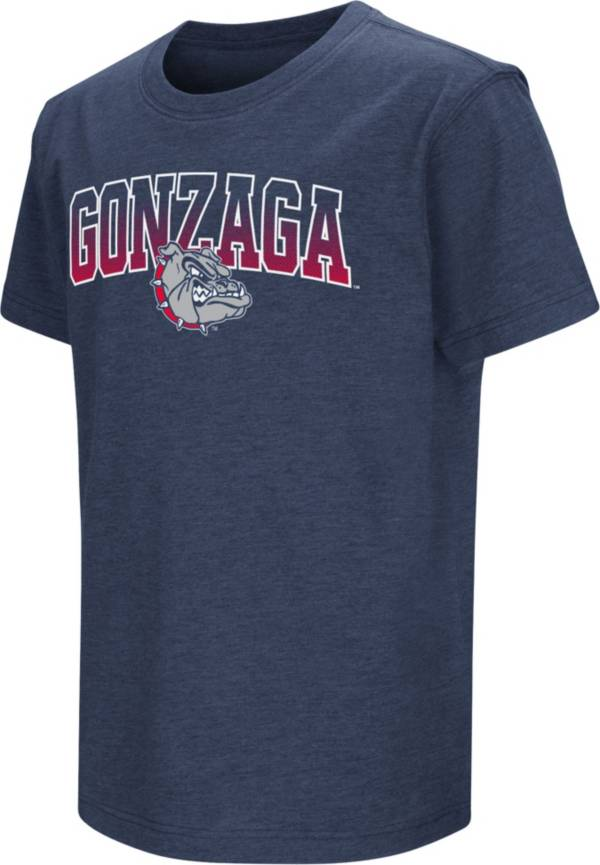Colosseum Youth Gonzaga Bulldogs Blue Dual Blend T-Shirt product image