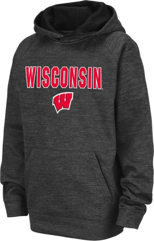 5d4ce0b19f3e Colosseum Youth Wisconsin Badgers Grey Pullover Hoodie. noImageFound. 1