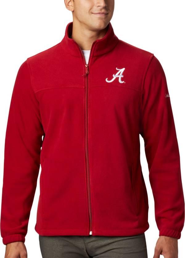 Columbia Men's Alabama Crimson Tide Crimson Flanker Full-Zip Fleece Jacket product image
