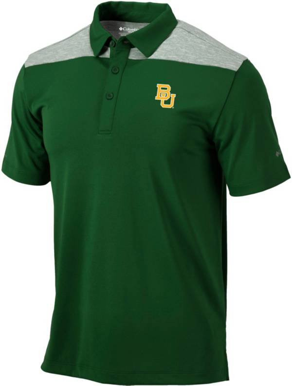 Columbia Men's Baylor Bears Green Utility Performance Polo product image