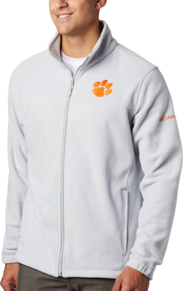 Columbia Men's Clemson Tigers Grey Flanker Full-Zip Fleece Jacket product image
